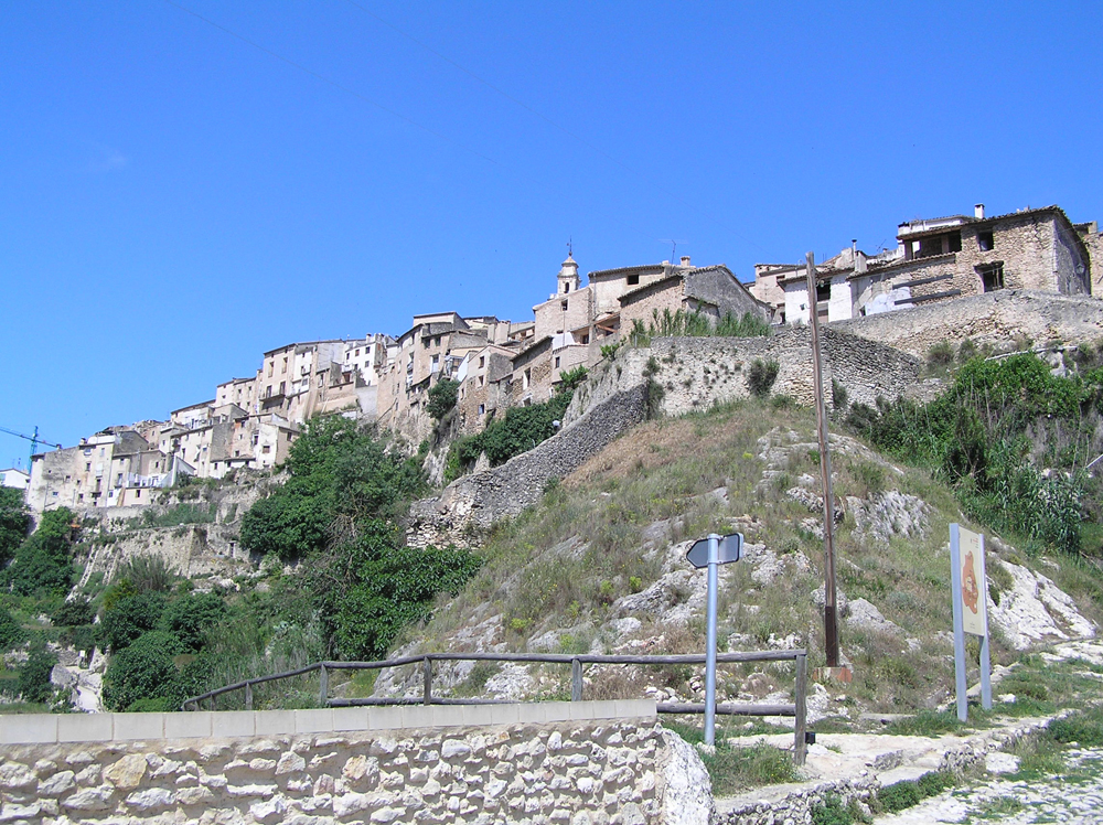 Vista del pueblo de Bocairent