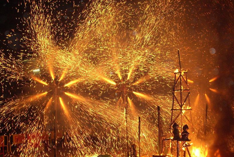 La nit del Foc en Fallas de Valencia
