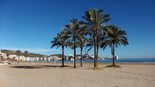 Vista de playa de Cullera