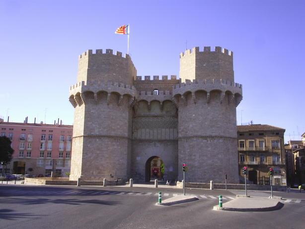 Torres serranos en Valencia Capital